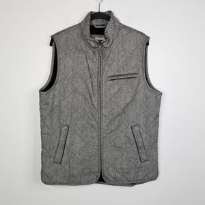 Jos A Bank 1905 Tailored Fit Quilted Vest M Gray